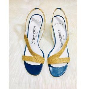 🍹💕SummerSale! YSL 14K Glitter Sandals 👡✨